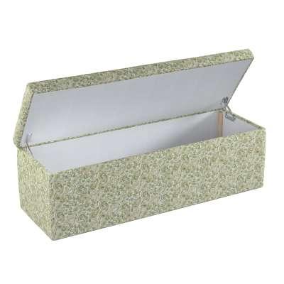 Čalouněná skříň s volbou látky - 2 velikosti 143-68 zelené a oranžové vzory na béžovém pozadí Kolekce Flowers