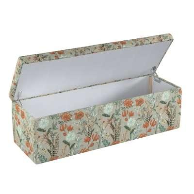 Čalouněná skříň s volbou látky - 2 velikosti 143-70 barevné květiny na šedém pozadí Kolekce Flowers