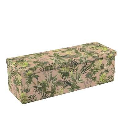 Čalouněná skříň s volbou látky - 2 velikosti 143-71 zielona roślinność na brudnoróżowym tle Kolekce Tropical Island