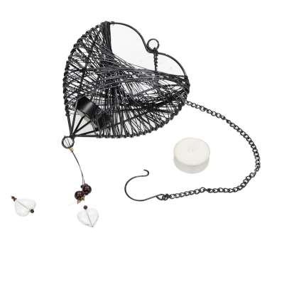 Świecznik wiszący Wire Heart 77cm