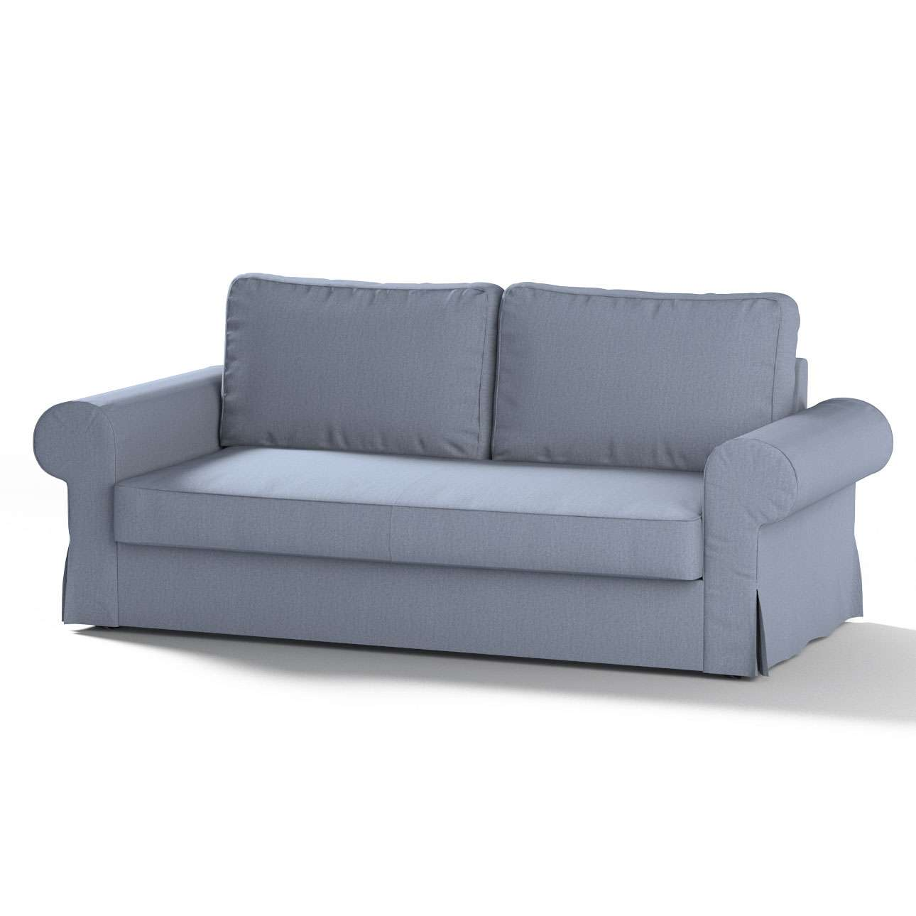 backabro 3 sitzer sofabezug ausklappbar silber blau dekoria. Black Bedroom Furniture Sets. Home Design Ideas