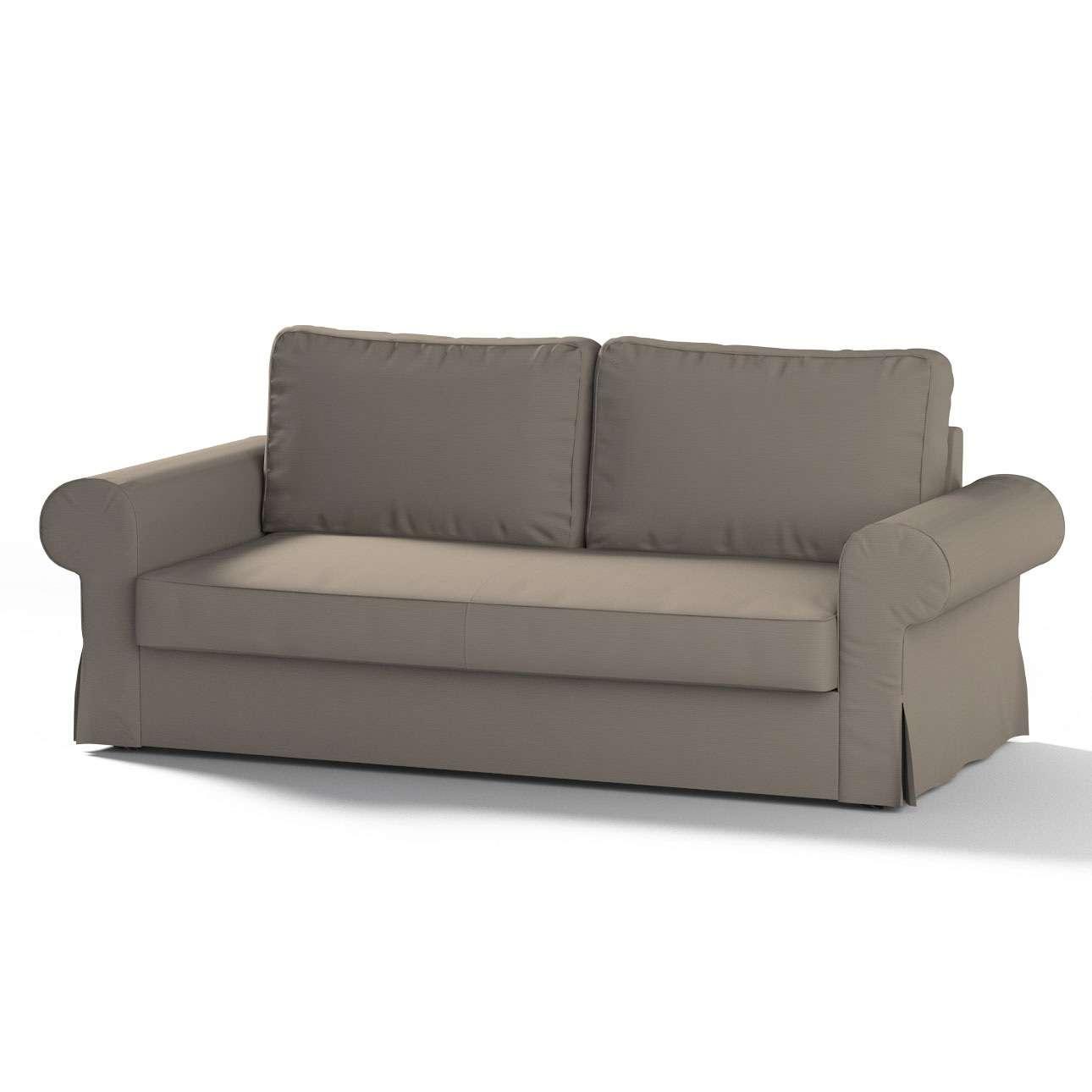 Pokrowiec na sofę Backabro 3-osobową rozkładaną w kolekcji Cotton Panama, tkanina: 702-28
