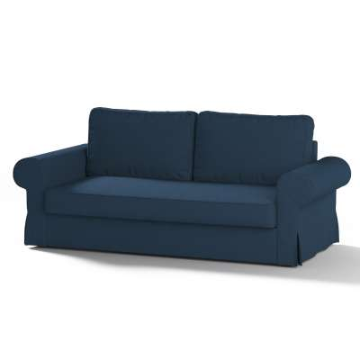 Backabro trivietės sofos užvalkalas 702-30 tamsiai mėlyna Kolekcija Cotton Panama