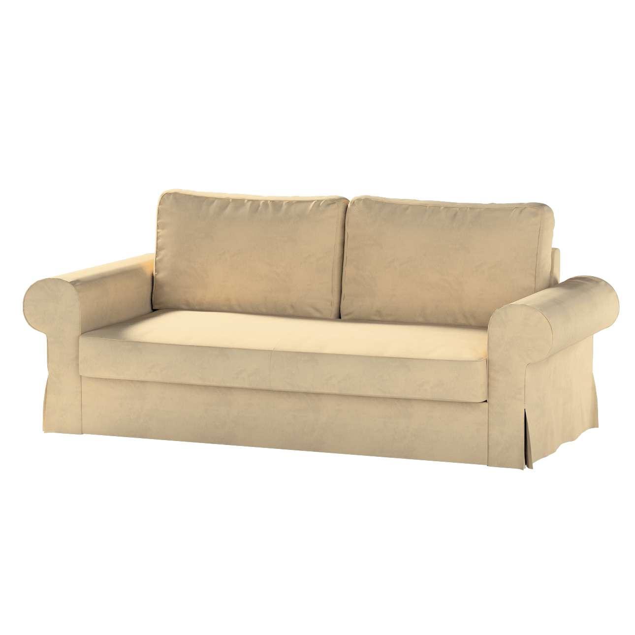 Pokrowiec na sofę Backabro 3-osobową rozkładaną w kolekcji Living II, tkanina: 160-82