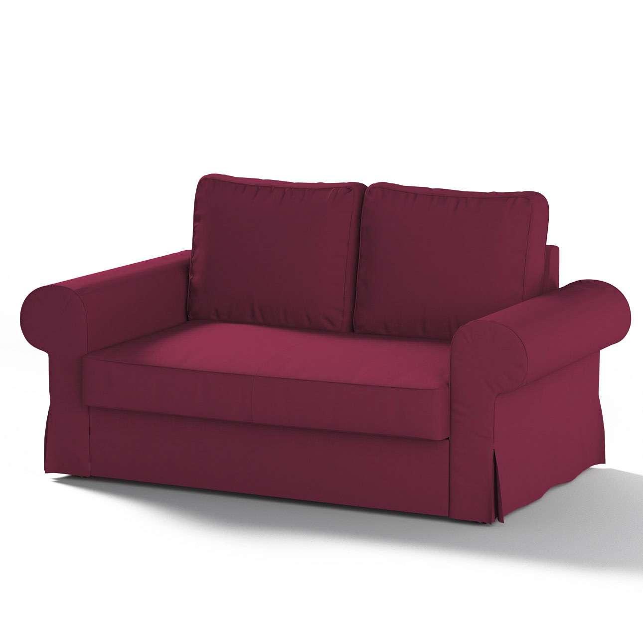 Pokrowiec na sofę Backabro 2-osobową rozkładaną w kolekcji Cotton Panama, tkanina: 702-32