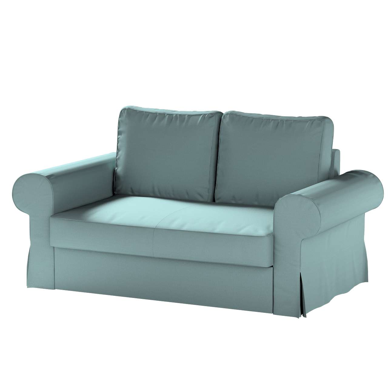Pokrowiec na sofę Backabro 2-osobową rozkładaną w kolekcji Cotton Panama, tkanina: 702-40