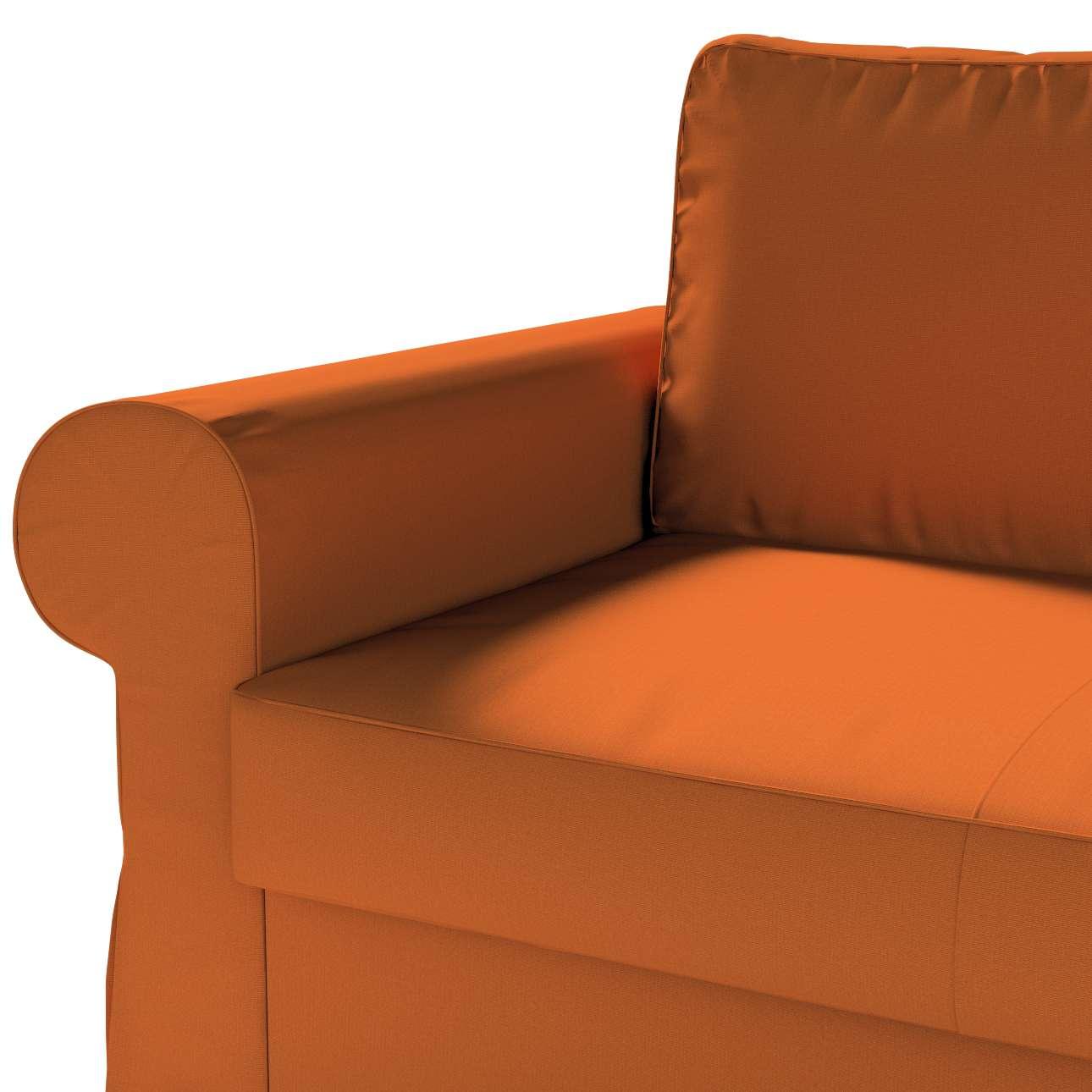 Pokrowiec na sofę Backabro 2-osobową rozkładaną w kolekcji Cotton Panama, tkanina: 702-42