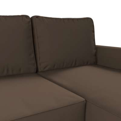 Pokrowiec na sofę Backabro rozkładaną z leżanką w kolekcji Cotton Panama, tkanina: 702-02
