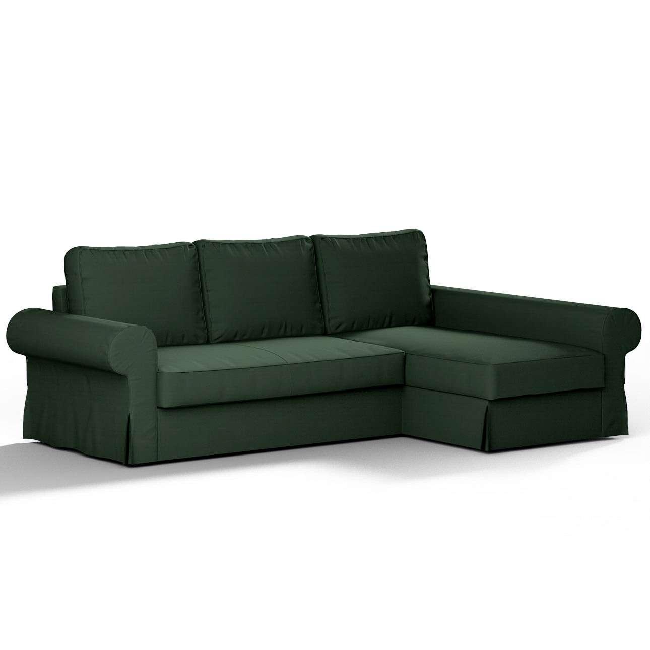 Pokrowiec na sofę Backabro rozkładaną z leżanką w kolekcji Cotton Panama, tkanina: 702-06