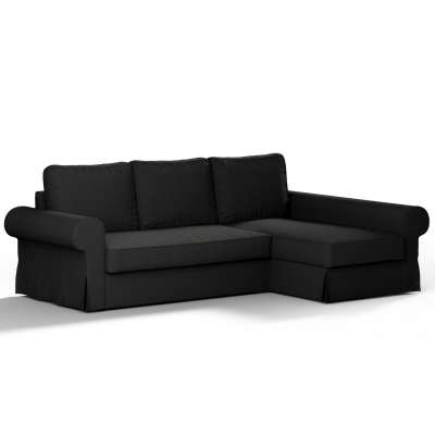 Backabro sofa bed with chaise longue cover 702-08 graphite grey with a hint of brown Collection Panama Cotton