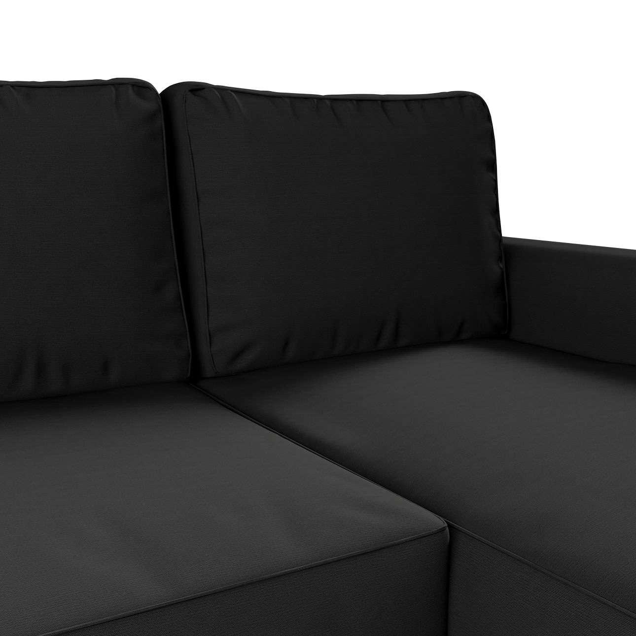 Pokrowiec na sofę Backabro rozkładaną z leżanką w kolekcji Cotton Panama, tkanina: 702-08