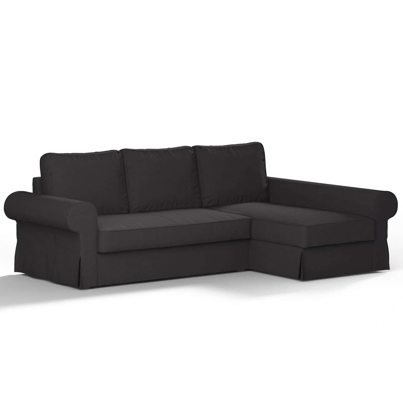 Pokrowiec na sofę Backabro rozkładaną z leżanką w kolekcji Cotton Panama, tkanina: 702-09