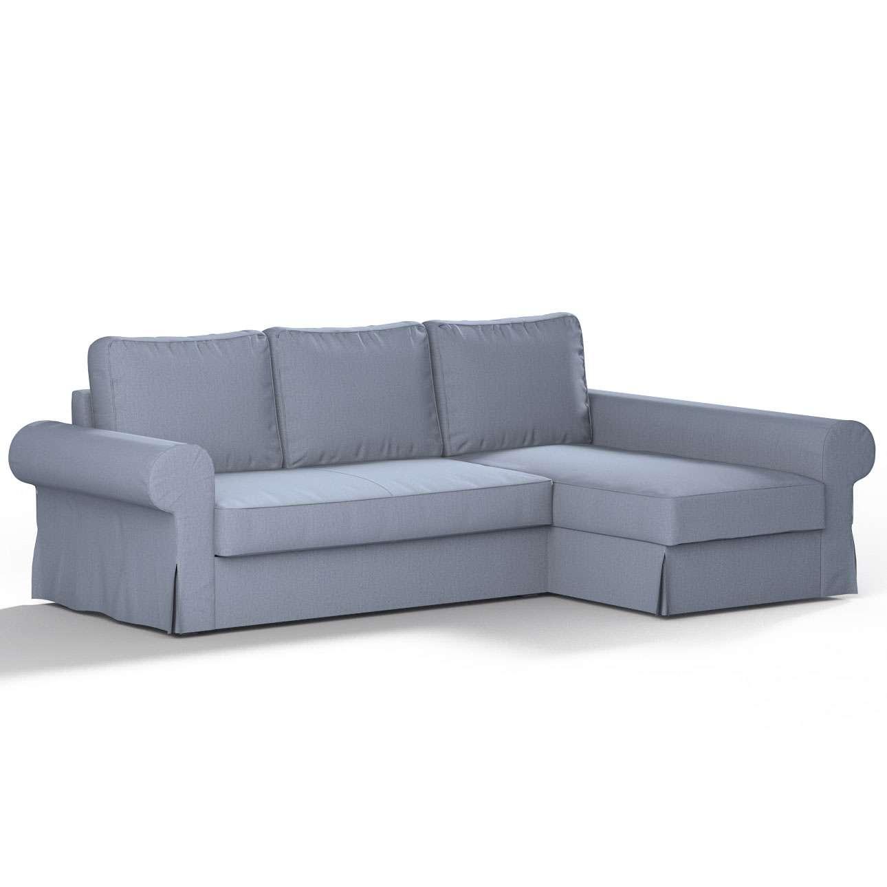 Pokrowiec na sofę Backabro rozkładaną z leżanką sofa Backabro rozkładana z leżanką w kolekcji Chenille, tkanina: 702-13