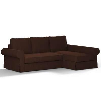 Pokrowiec na sofę Backabro rozkładaną z leżanką w kolekcji Chenille, tkanina: 702-18