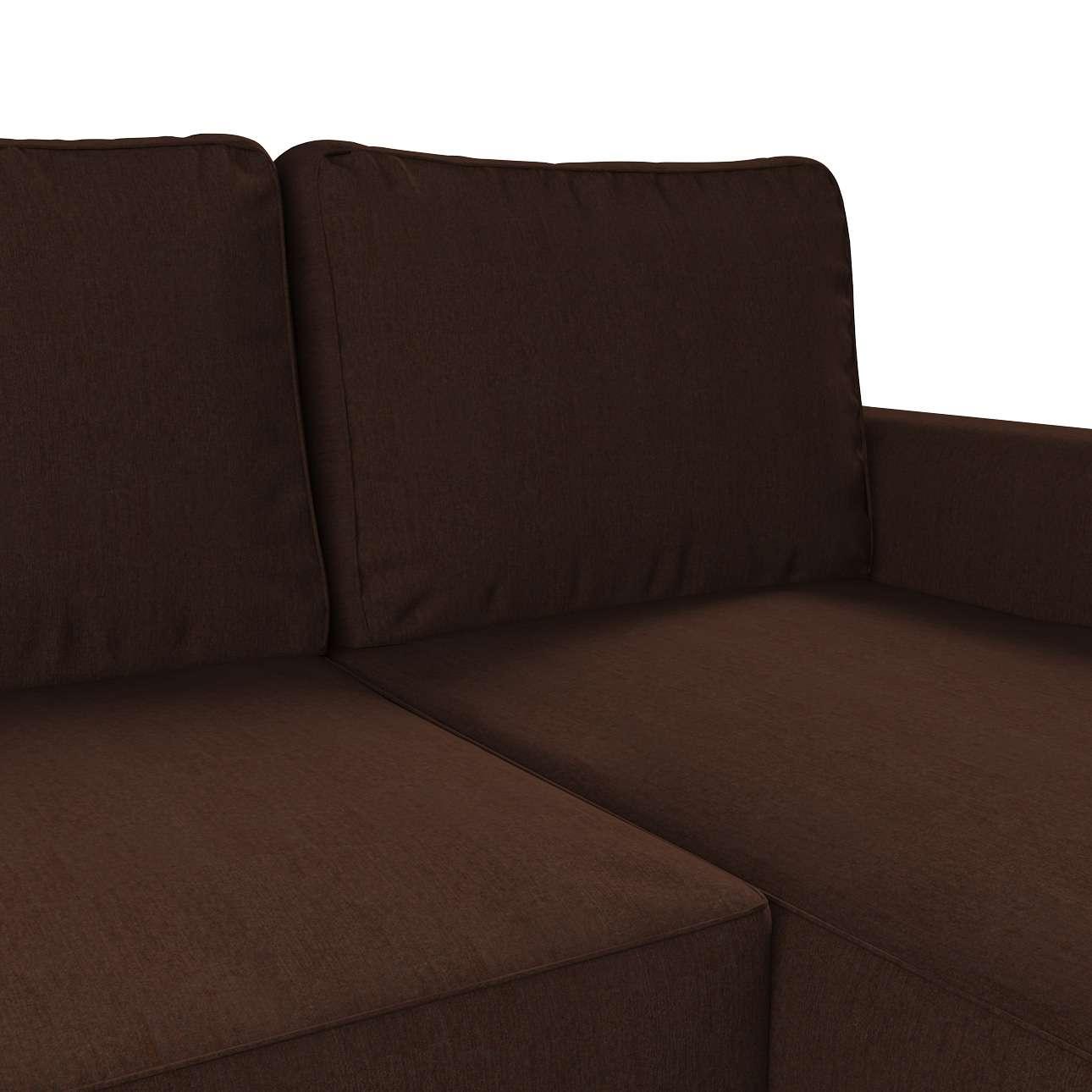 Pokrowiec na sofę Backabro rozkładaną z leżanką sofa Backabro rozkładana z leżanką w kolekcji Chenille, tkanina: 702-18