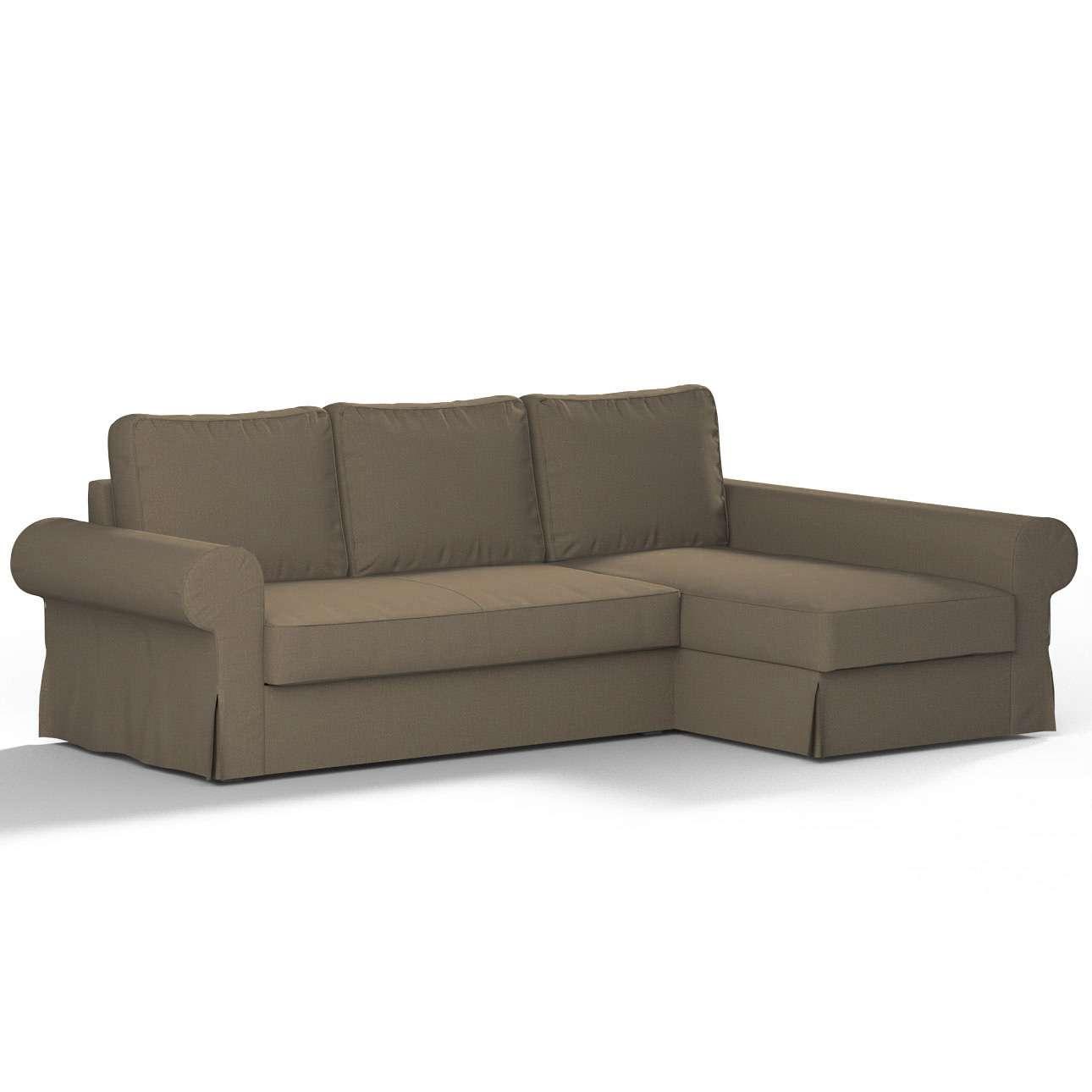 Pokrowiec na sofę Backabro rozkładaną z leżanką sofa Backabro rozkładana z leżanką w kolekcji Chenille, tkanina: 702-21
