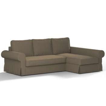 Pokrowiec na sofę Backabro rozkładaną z leżanką w kolekcji Chenille, tkanina: 702-21
