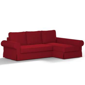 Backabro sofa bed with chaise longue cover in collection Chenille, fabric: 702-24