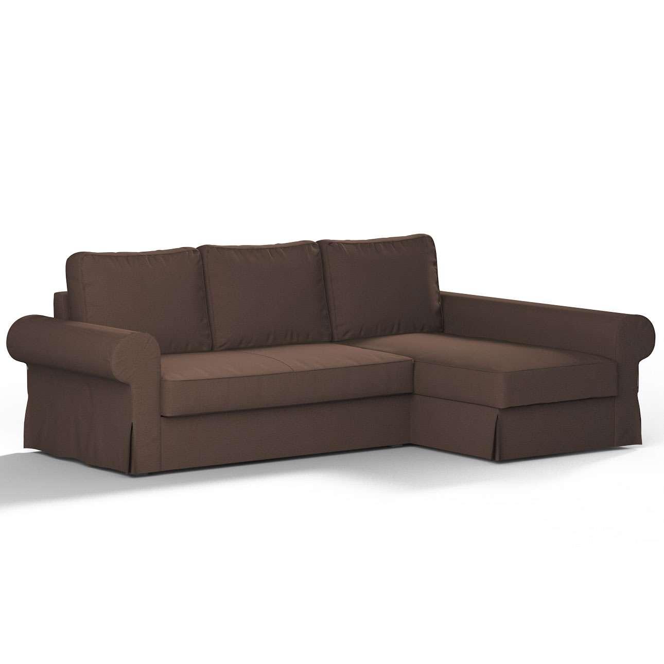 Pokrowiec na sofę Backabro rozkładaną z leżanką w kolekcji Etna, tkanina: 705-08