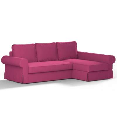Pokrowiec na sofę Backabro rozkładaną z leżanką w kolekcji Etna, tkanina: 705-23