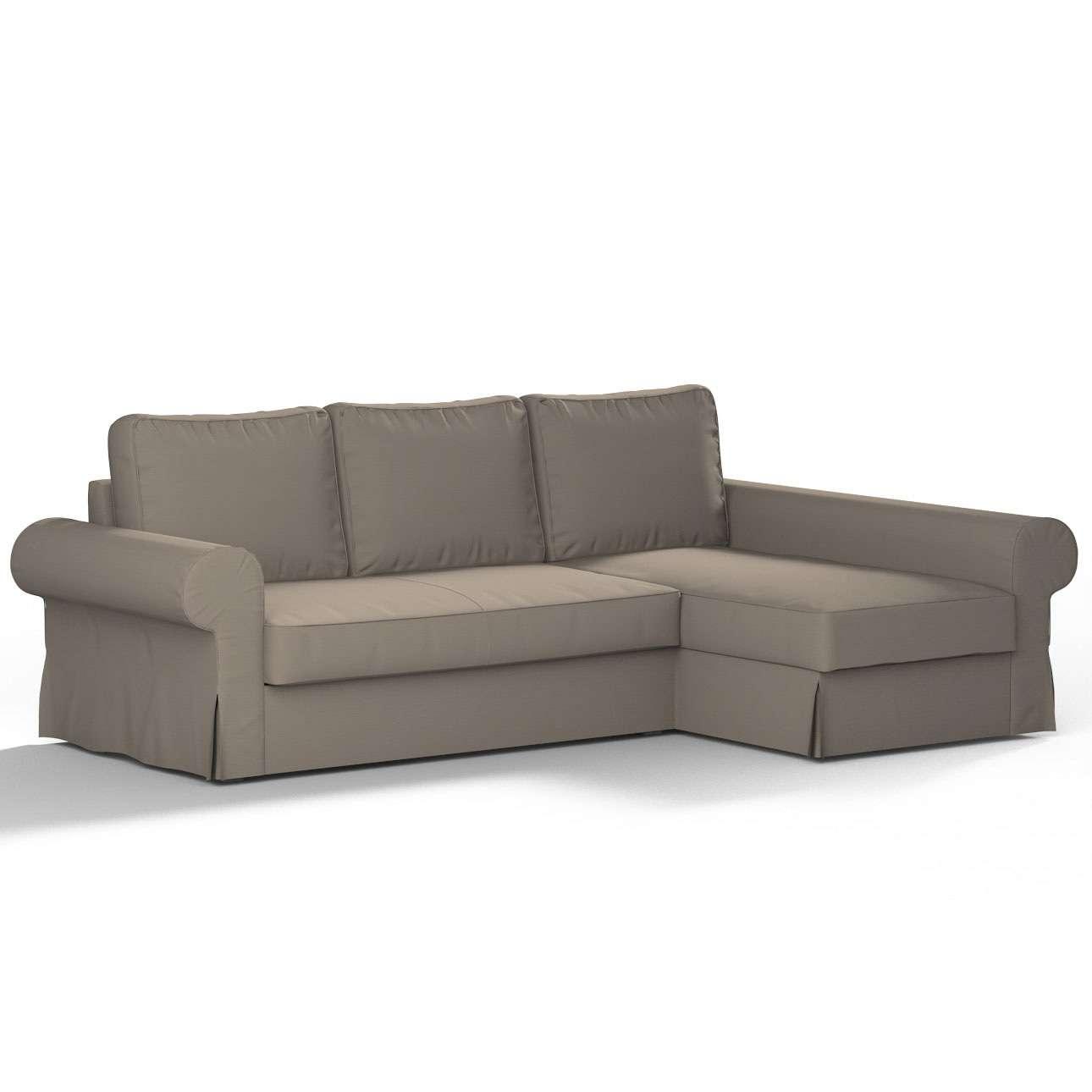 Pokrowiec na sofę Backabro rozkładaną z leżanką sofa Backabro rozkładana z leżanką w kolekcji Cotton Panama, tkanina: 702-28