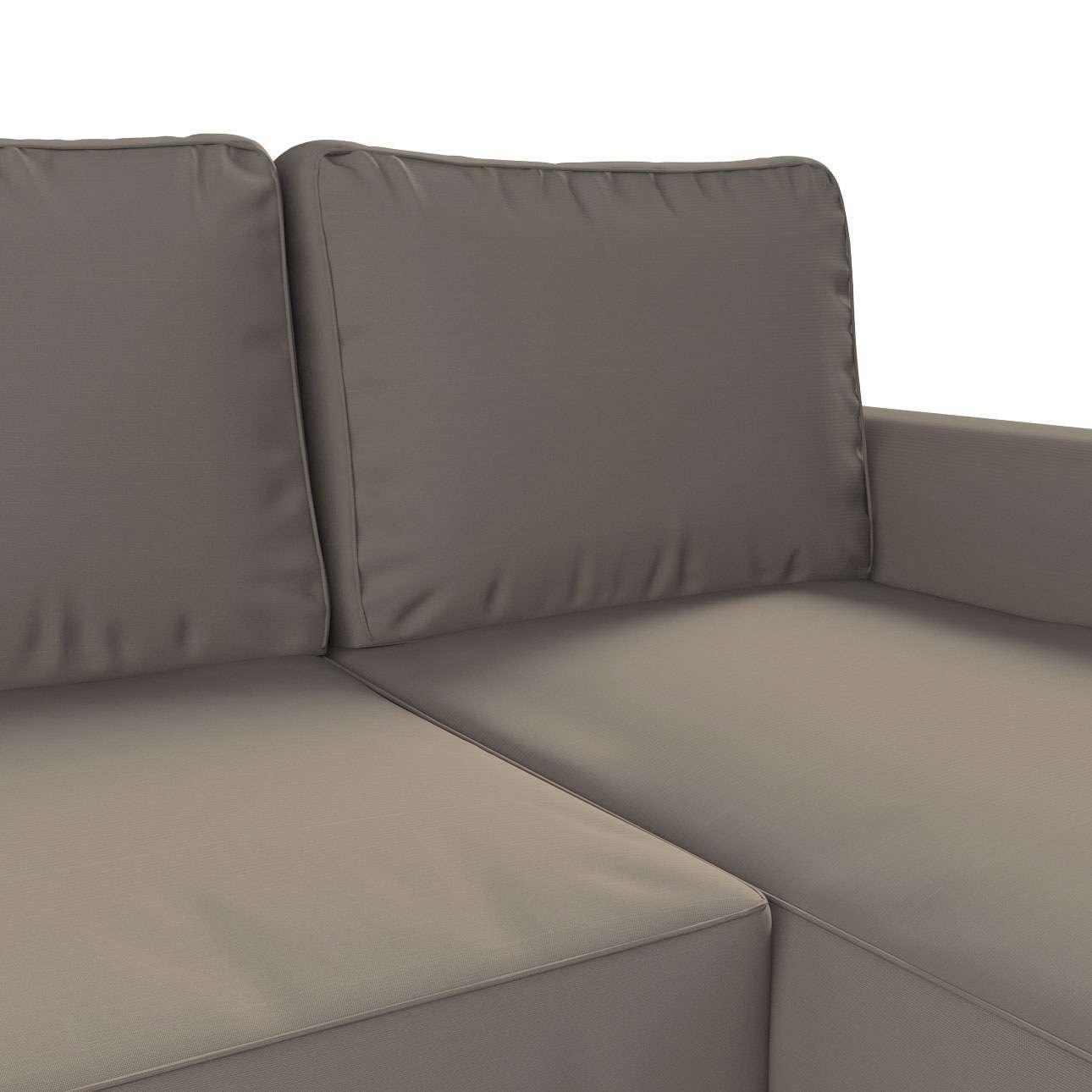 Pokrowiec na sofę Backabro rozkładaną z leżanką w kolekcji Cotton Panama, tkanina: 702-28