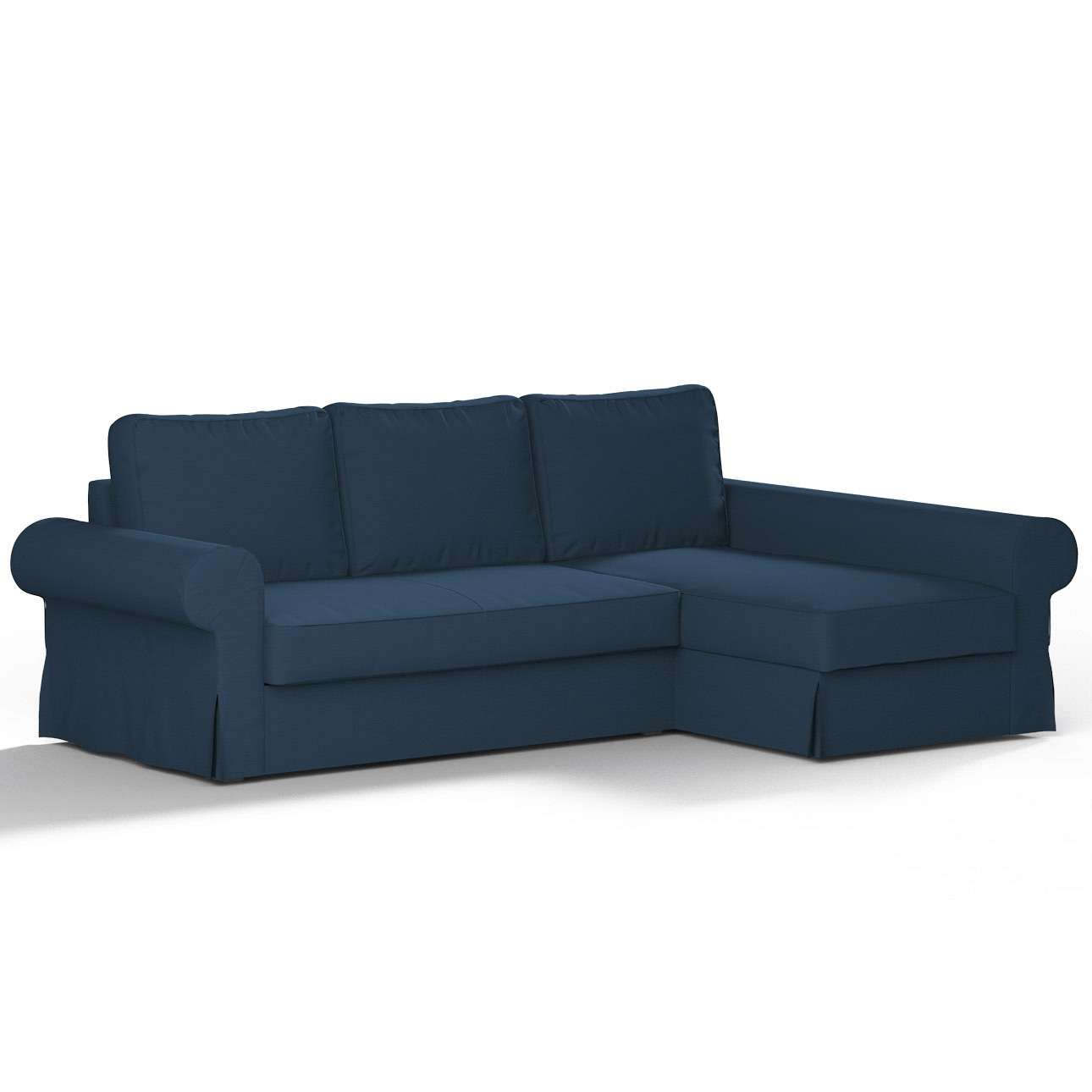 Backabro Sofa Bed With Chaise Longue Cover Dark Blue 702
