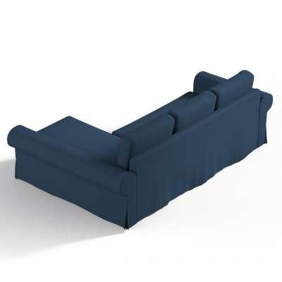 Pokrowiec na sofę Backabro rozkładaną z leżanką w kolekcji Cotton Panama, tkanina: 702-30