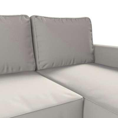 Pokrowiec na sofę Backabro rozkładaną z leżanką w kolekcji Cotton Panama, tkanina: 702-31