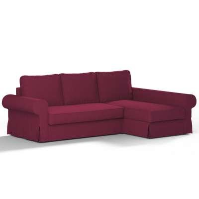 Pokrowiec na sofę Backabro rozkładaną z leżanką w kolekcji Cotton Panama, tkanina: 702-32