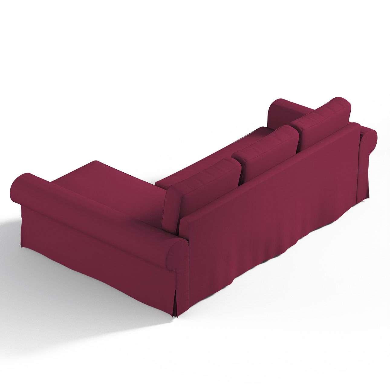 Pokrowiec na sofę Backabro rozkładaną z leżanką sofa Backabro rozkładana z leżanką w kolekcji Cotton Panama, tkanina: 702-32