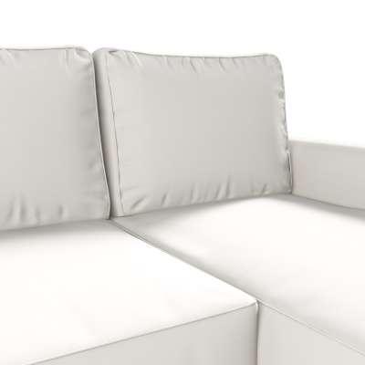 Pokrowiec na sofę Backabro rozkładaną z leżanką w kolekcji Cotton Panama, tkanina: 702-34