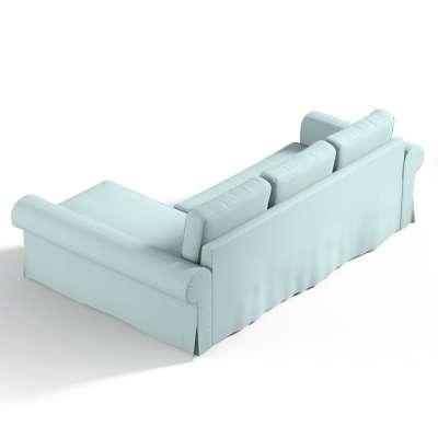 Pokrowiec na sofę Backabro rozkładaną z leżanką w kolekcji Cotton Panama, tkanina: 702-10