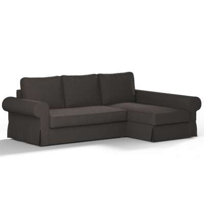 Backabro sofa bed with chaise longue cover 702-36 brown chenille Collection Etna