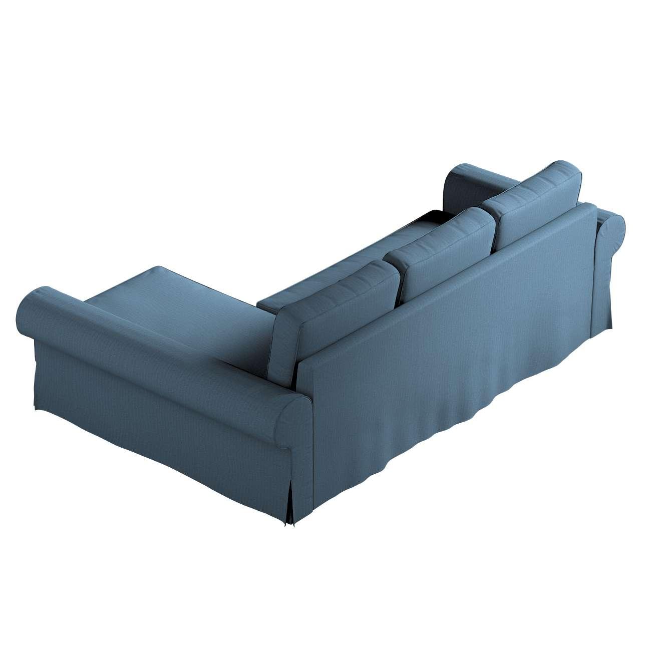 Pokrowiec na sofę Backabro rozkładaną z leżanką w kolekcji Etna, tkanina: 705-30