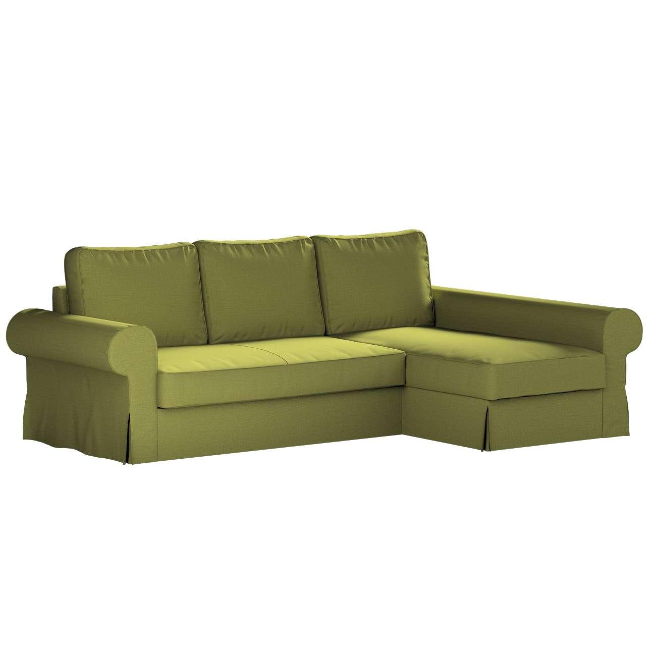 Pokrowiec na sofę Backabro rozkładaną z leżanką w kolekcji Living II, tkanina: 161-13