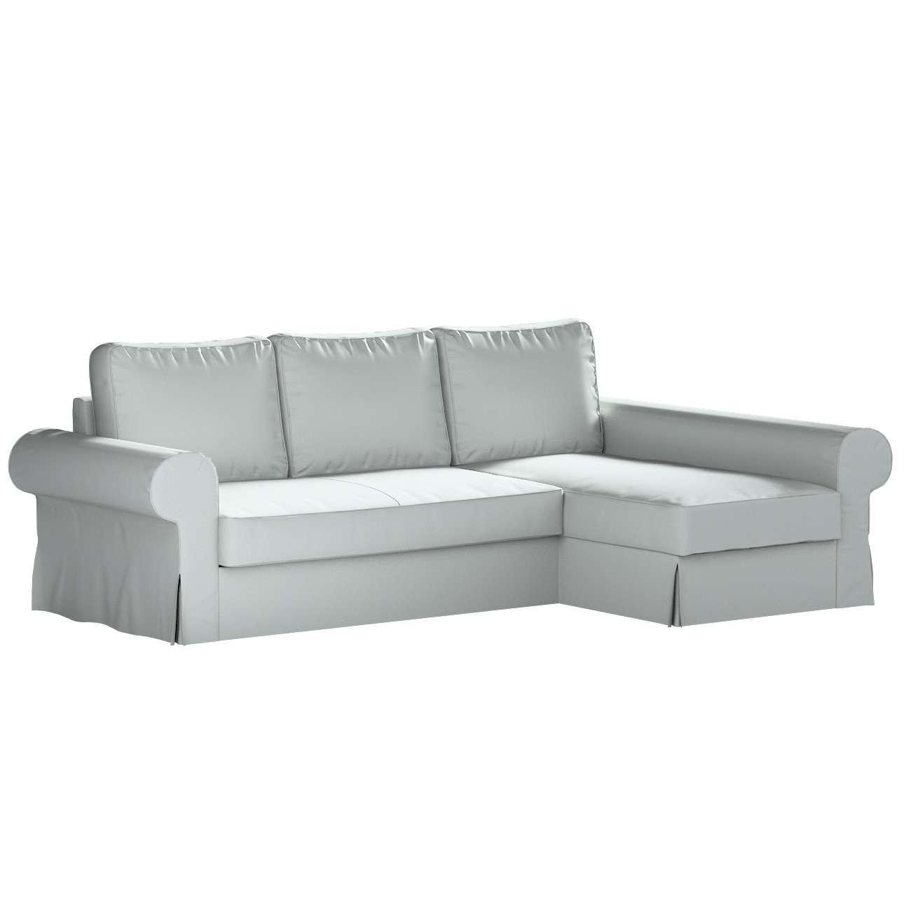 Pokrowiec na sofę Backabro rozkładaną z leżanką w kolekcji Bergen, tkanina: 161-72