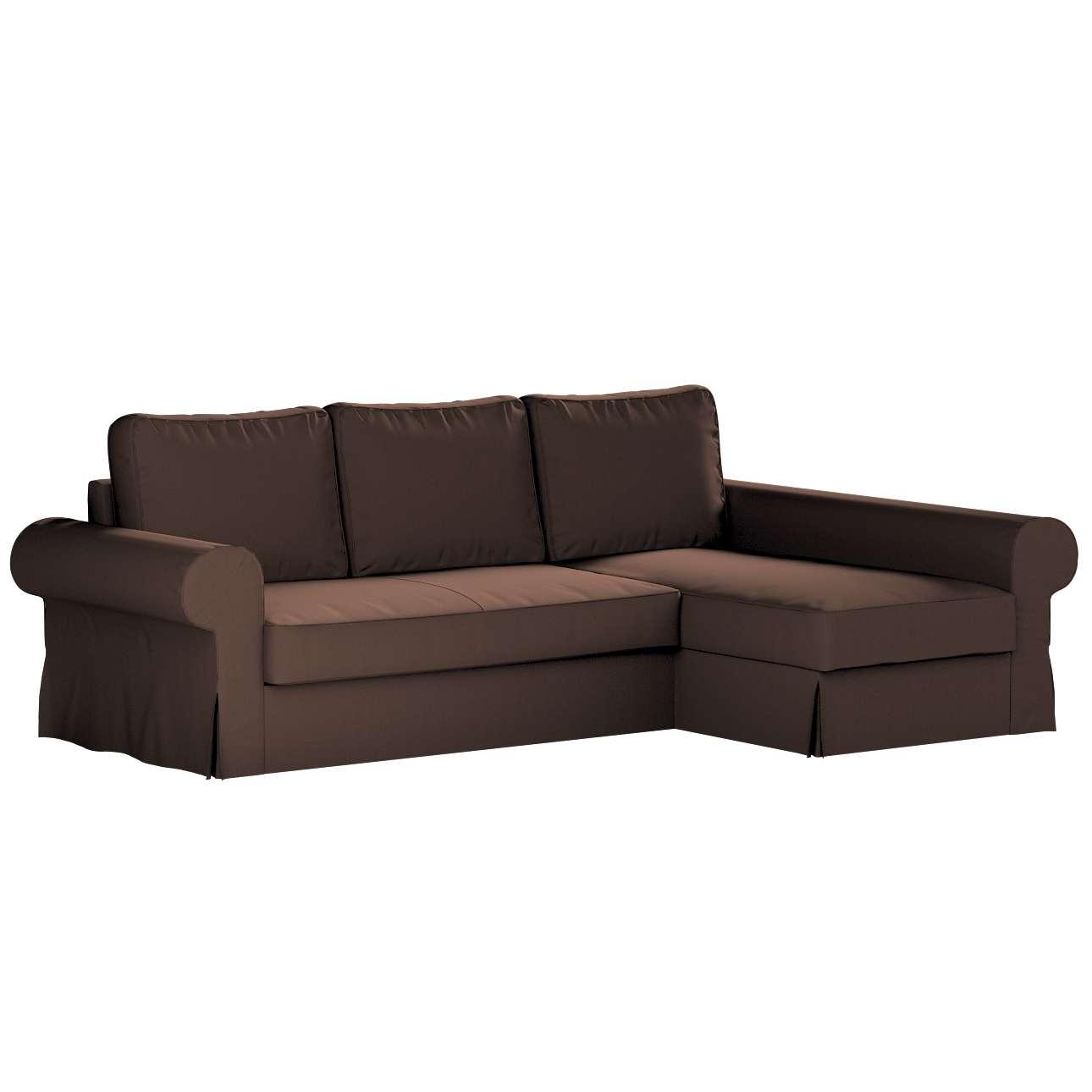 Pokrowiec na sofę Backabro rozkładaną z leżanką w kolekcji Bergen, tkanina: 161-73