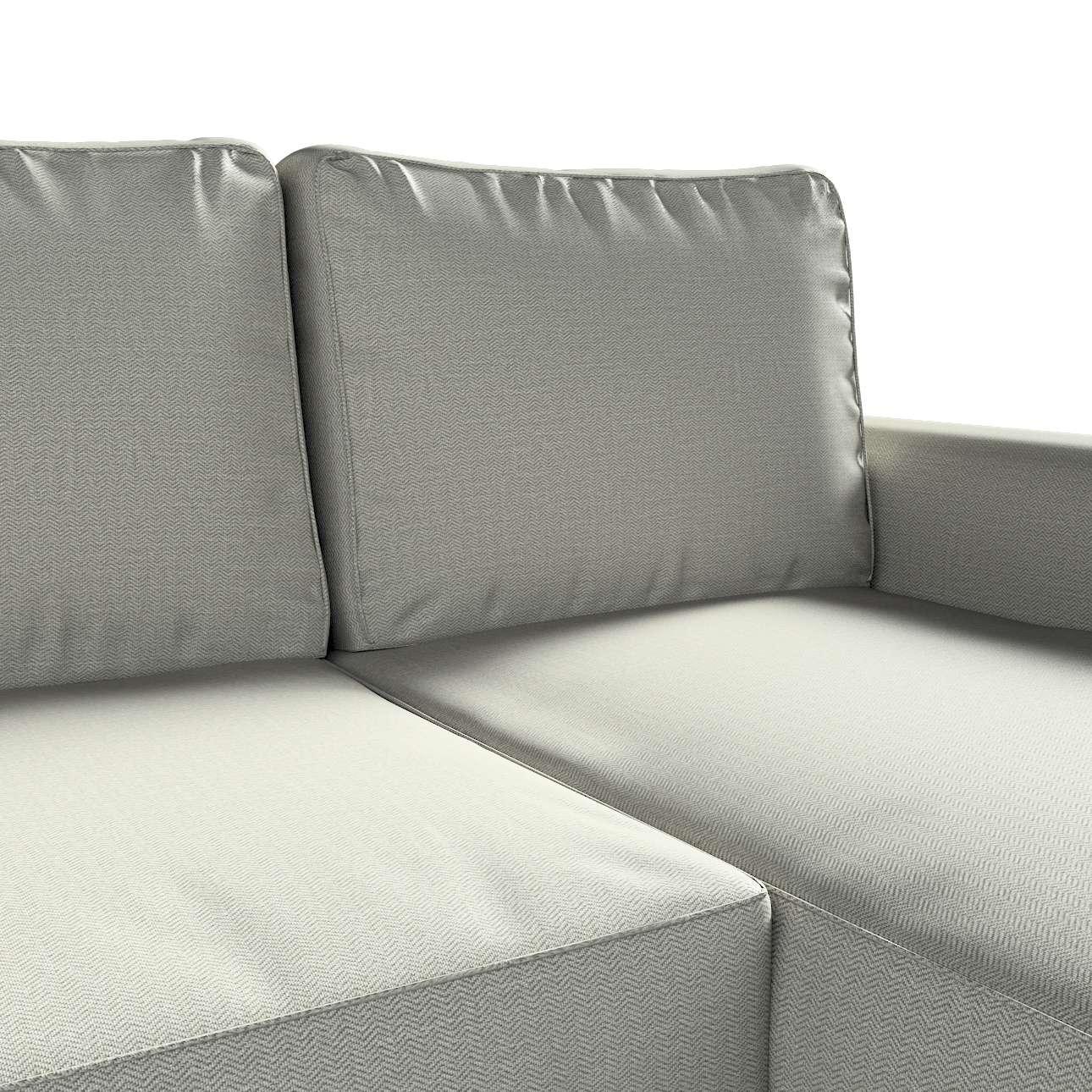 Pokrowiec na sofę Backabro rozkładaną z leżanką w kolekcji Bergen, tkanina: 161-83