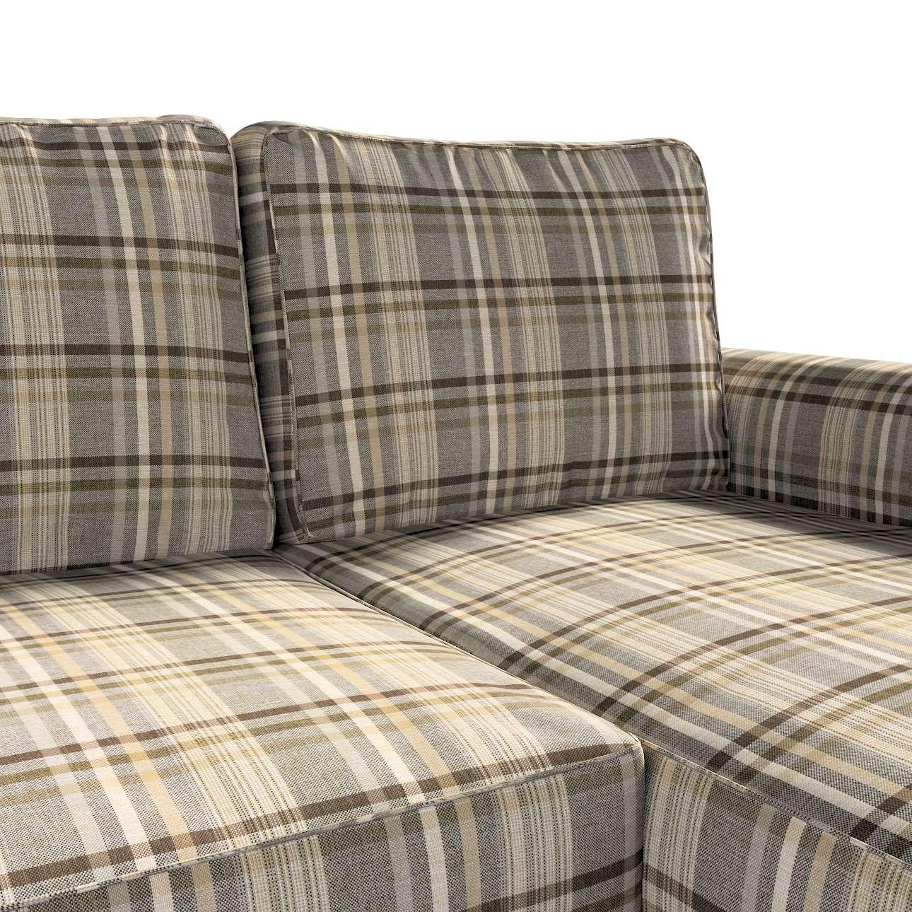 Pokrowiec na sofę Backabro rozkładaną z leżanką w kolekcji Edinburgh, tkanina: 703-17