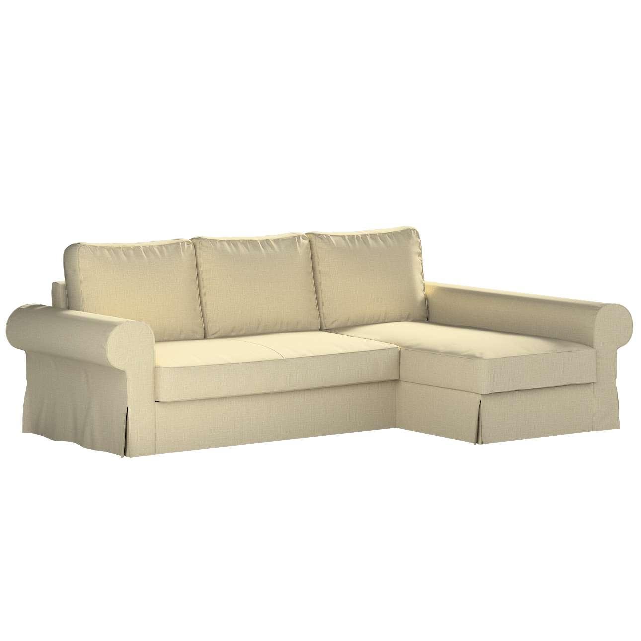Pokrowiec na sofę Backabro rozkładaną z leżanką w kolekcji Living, tkanina: 161-45