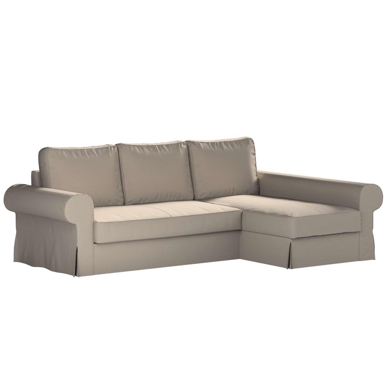Pokrowiec na sofę Backabro rozkładaną z leżanką w kolekcji Living, tkanina: 161-53