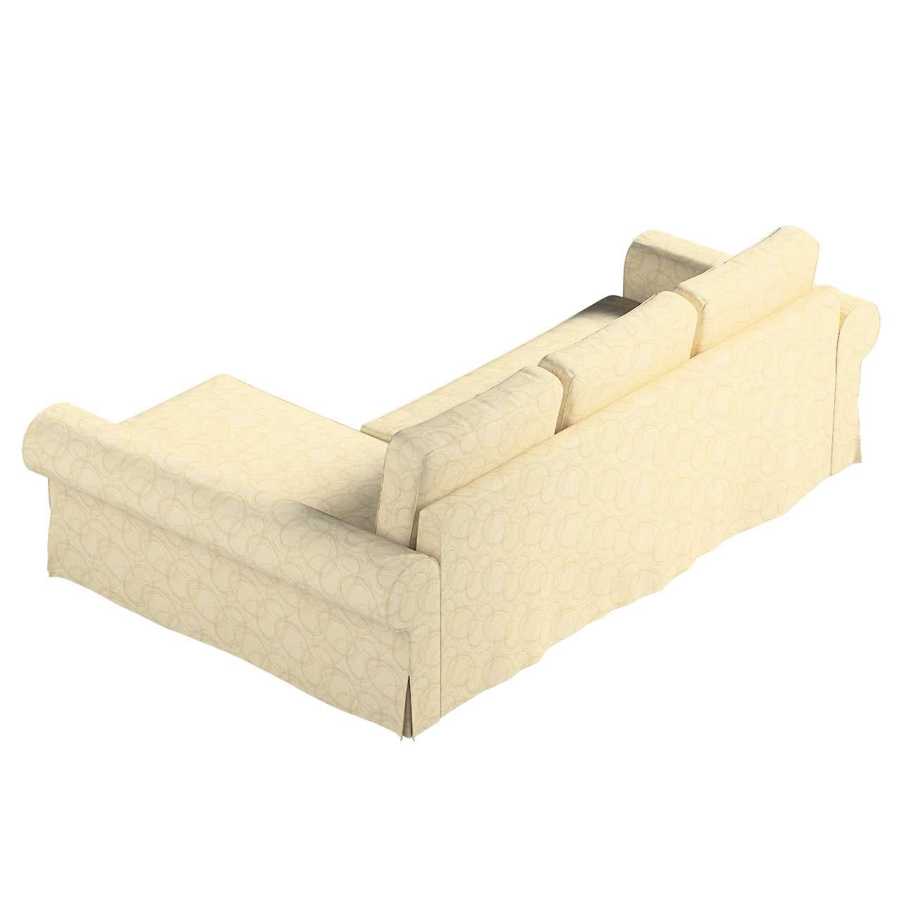 Pokrowiec na sofę Backabro rozkładaną z leżanką w kolekcji Living, tkanina: 161-81