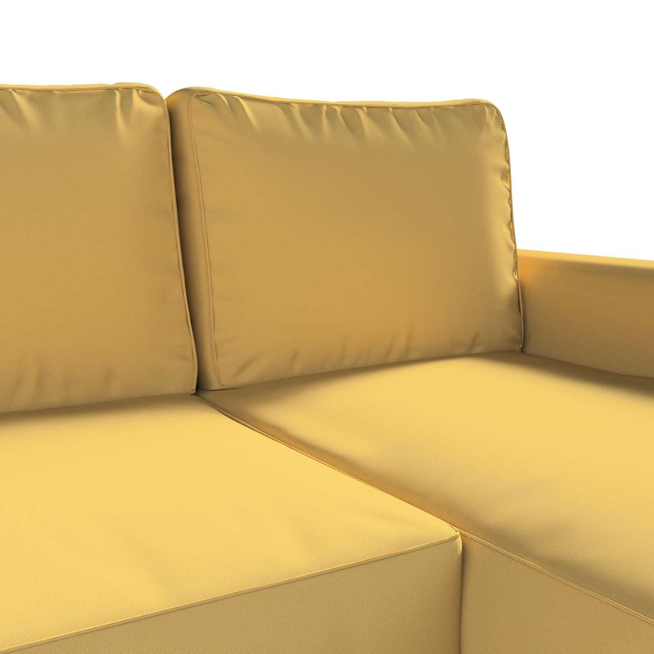 Pokrowiec na sofę Backabro rozkładaną z leżanką w kolekcji Cotton Panama, tkanina: 702-41