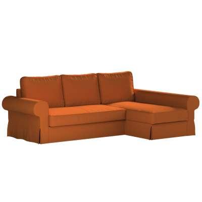 Pokrowiec na sofę Backabro rozkładaną z leżanką w kolekcji Cotton Panama, tkanina: 702-42