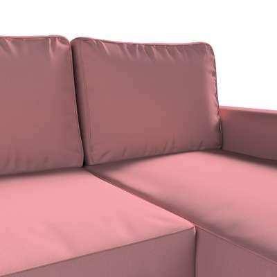 Pokrowiec na sofę Backabro rozkładaną z leżanką w kolekcji Cotton Panama, tkanina: 702-43