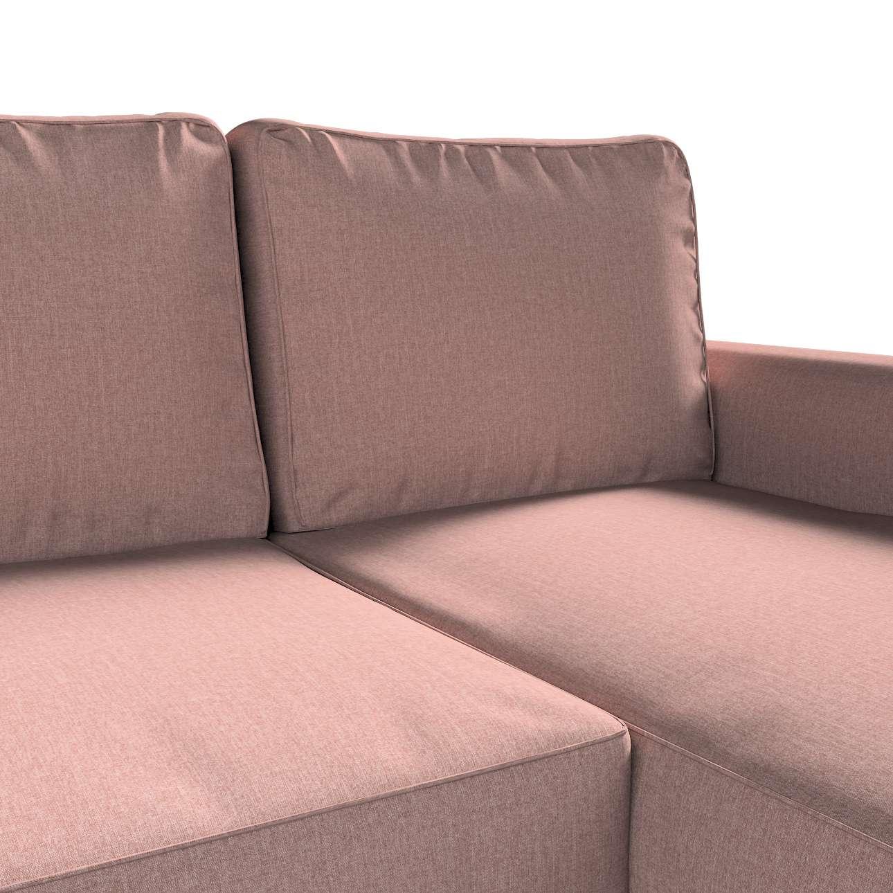Pokrowiec na sofę Backabro rozkładaną z leżanką w kolekcji City, tkanina: 704-83