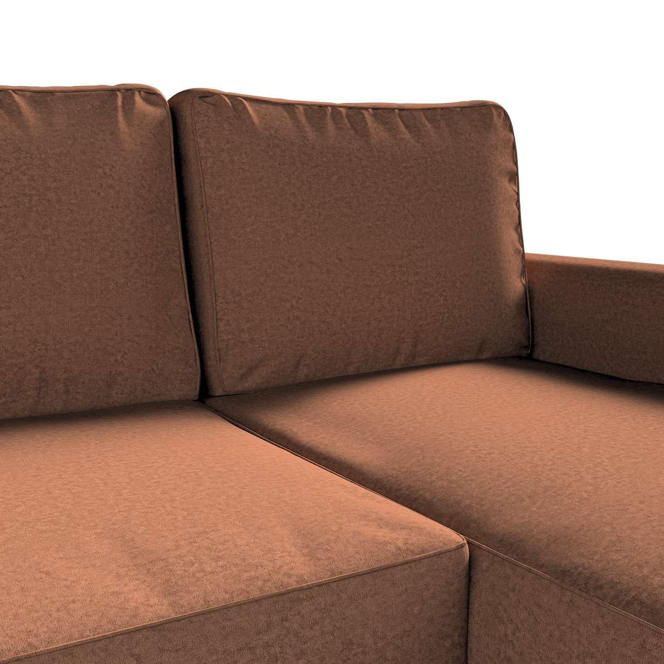 Pokrowiec na sofę Backabro rozkładaną z leżanką w kolekcji Living, tkanina: 161-65