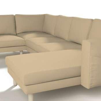 Pokrowiec na sofę narożną Norsborg 5-osobową z szezlongiem w kolekcji Cotton Panama, tkanina: 702-01