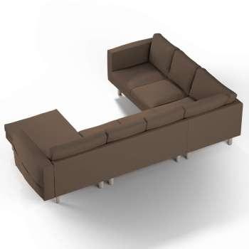 Pokrowiec na sofę narożną Norsborg 5-osobową z szezlongiem w kolekcji Cotton Panama, tkanina: 702-02